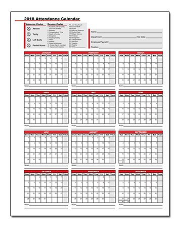Time and Attendance Calendars