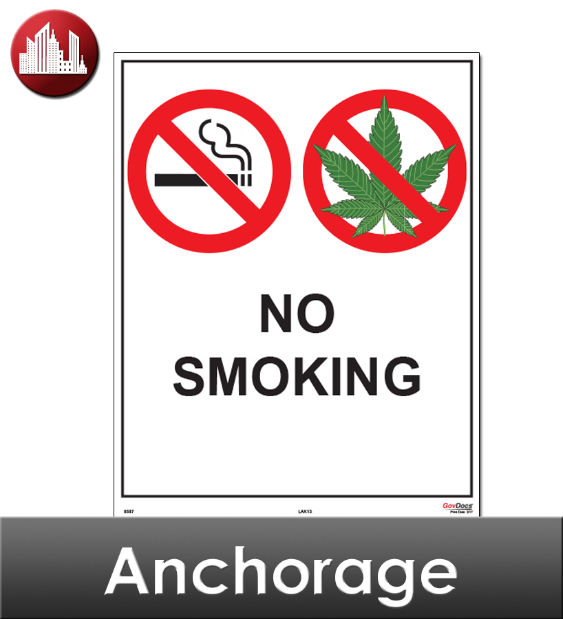 Anchorage, AK Laminated Workplace Poster Package