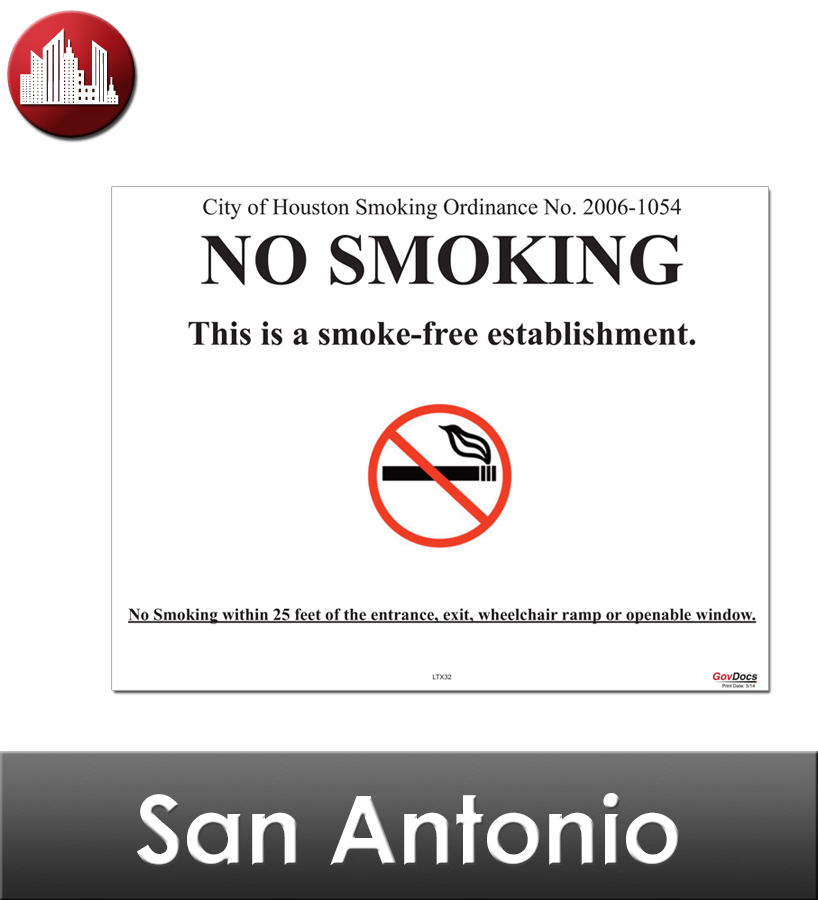 San Antonio, TX Laminated Workplace Poster Package