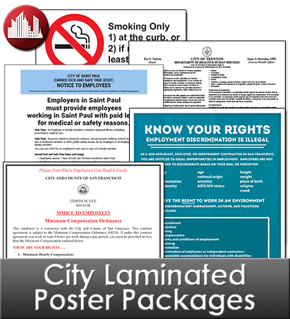 City Laminated Poster Packages