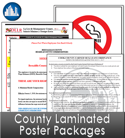 County Laminated Poster Packages