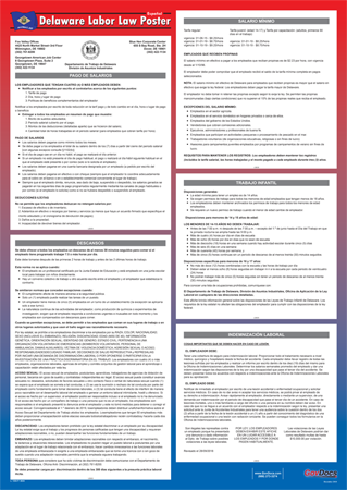 Delaware State Laminated State-on-One Poster - Spanish