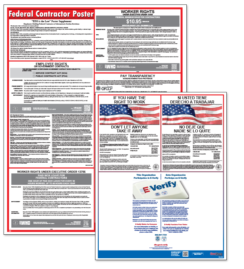 Federal Contractor Laminated Poster Package