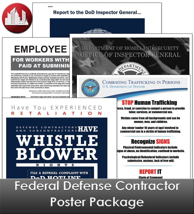 Federal Defense Contractor Laminated Poster Package