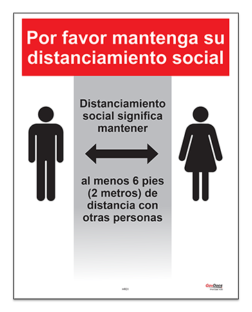 Social Distancing Poster in Spanish