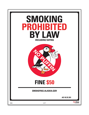 Alaska No Smoking or Vaping Poster