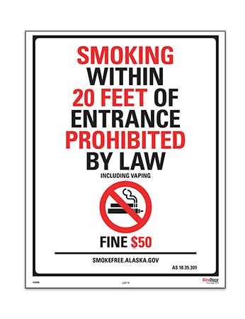 Alaska No Smoking Within 20 Feet Poster