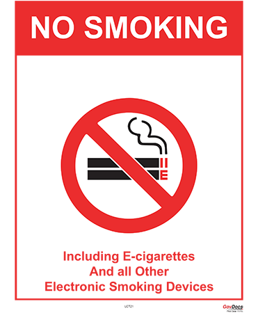 Connecticut No-Smoking Poster