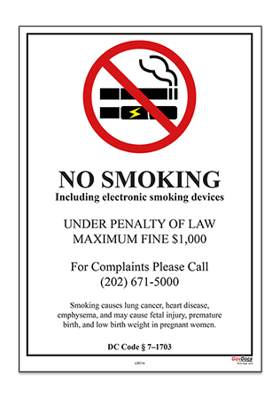 Washington, D.C. No-Smoking Poster