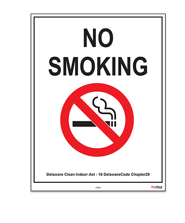 Delaware Smoking Prohibited Poster