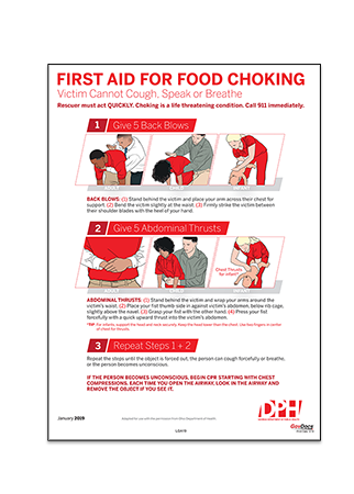 Georgia First Aid for Choking Poster