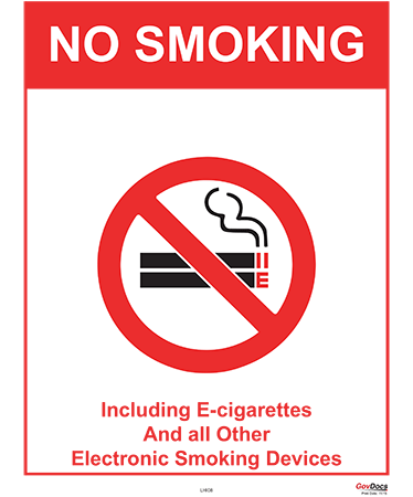 Hawaii No-Smoking Poster