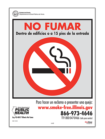 Illinois No-Smoking Poster, Spanish