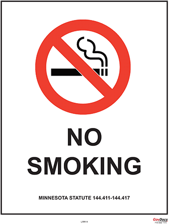 Minnesota No-Smoking Poster