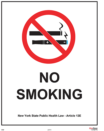 New York No-Smoking Poster