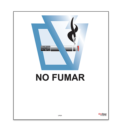 Pennsylvania No-Smoking Poster, Spanish