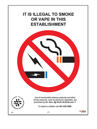 Rhode Island No-Smoking Poster