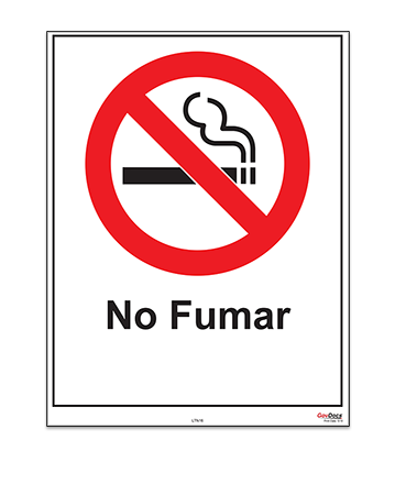 Tennessee No-Smoking Poster, Spanish