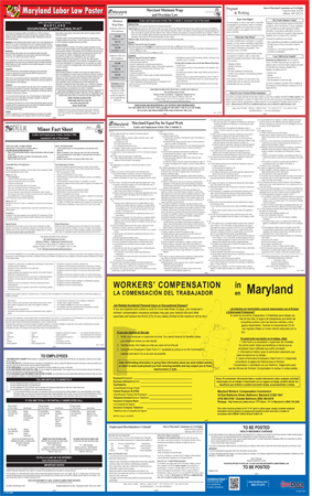 Maryland Laminated State-on-One Poster