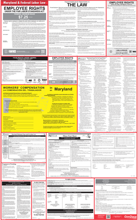 Maryland State and Federal Laminated Combined Poster