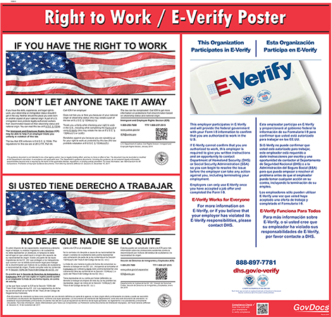 Federal Right to Work with E-Verify - English/Spanish