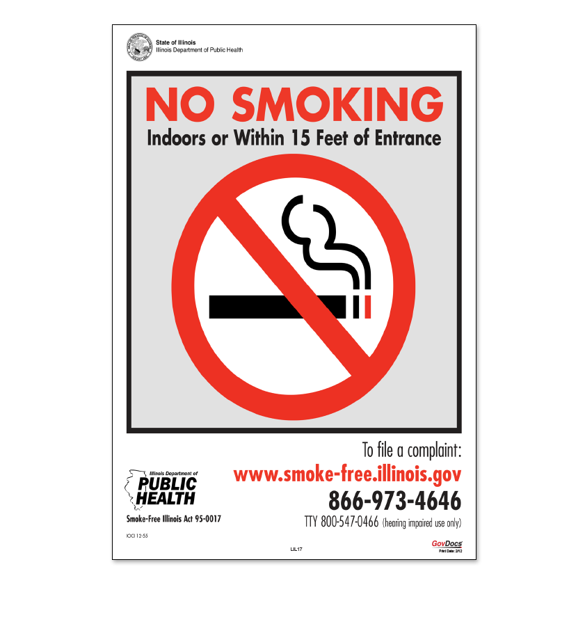 North Dakota No-Smoking Poster