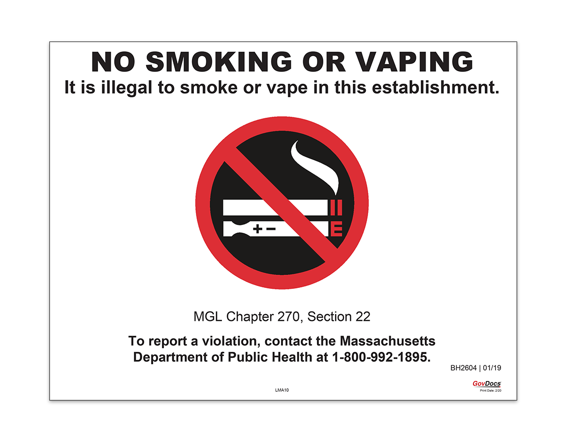 Massachusetts No-Smoking Poster