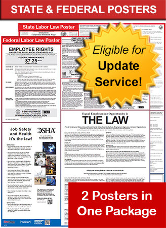 New Jersey State and Federal Laminated Poster Package
